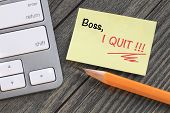 picture of quit  - message of I quit - JPG