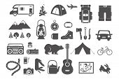 picture of boy scouts  - Hiking and camping  - JPG