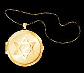 Star Of David Locket