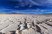 stock photo of salt mine  - Salt desert in the Jujuy Province - JPG