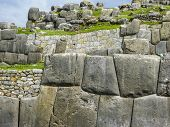 image of andes  - Sacsayhuaman Incas ruins in the peruvian Andes at Cuzco Peru - JPG