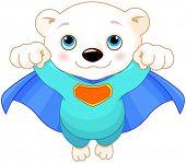 stock photo of polar bears  - Illustration of Super Hero Polar Bear - JPG