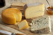 foto of cheese platter  - French cheese platter for dessert - JPG