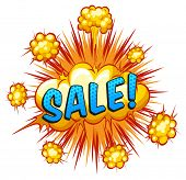 foto of slang  - Word sale with cloud explosion background - JPG