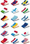 pic of glossary  - set of eighteen International Language Book Icons - JPG