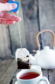 picture of tea bag  - tea in bag cup for tea and tea in bag - JPG