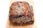 pic of ribs  - beef prime rib roast crusted with herbs  - JPG
