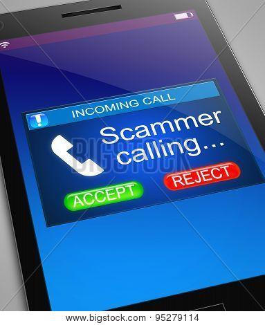 Scam Caller Concept