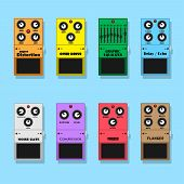 picture of distortion  - set of guitar pedals effects - JPG