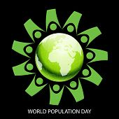 image of population  - Creative a beautiful greeting for World Population Day - JPG