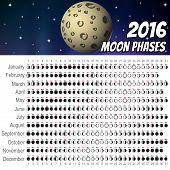 image of wane  - Moon Phases Calendar 2016 - JPG