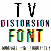 pic of distortion  - Tv distortion font - JPG