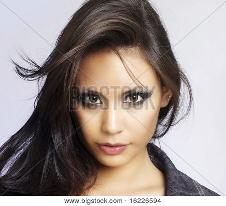 Постер, плакат: Красивое лицо Мода модели, холст на подрамнике