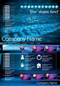 Sitio web de tecnología futurista