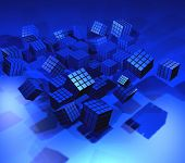 Abstract 3d illustration of cube