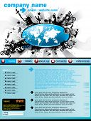 Website template with world map