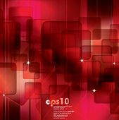 Red abstract background - vector illustration