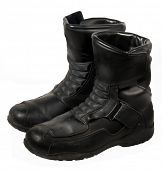 Heavy duty black leather bike books or work shoes