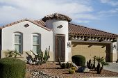 stock photo of residential home  - Beautiful new home in Arizona - JPG