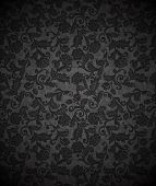 Damask seamless floral background pattern. Vector illustration.
