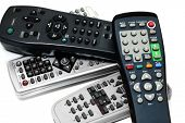 stock photo of televisor  - remote controls - JPG