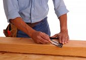 Carpenter Marking Cut Line