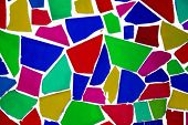 background made of an abstract pattern made with mosaic bits