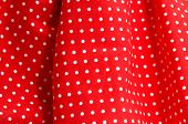 close up of a red flamenco dress, typical of Spain