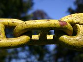Old Chain. Detail