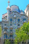 BARCELONA, SPAIN - MAY 23: Casa Batllo on May 23, 2010 in Barcelona, Spain. The famous building was