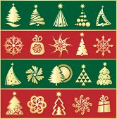 design gold christmas elements