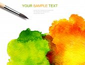 picture of paint brush  - brash and abstract watercolor paint - JPG
