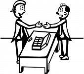 dois mens negociação