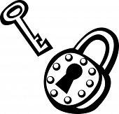 llave y candado vintage