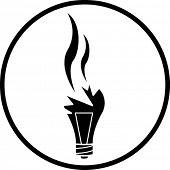 broken bulb symbol