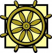 controlling wheel of a ship