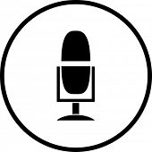 microphone with mount base symbol