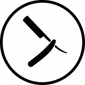 barber knife symbol