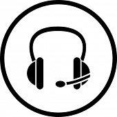 símbolo de fone de ouvido