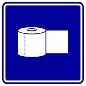 bathroom paper roll sign