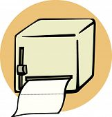 bathroom paper dispenser