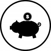 pig bank symbol