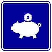 pig bank sign