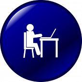 using a laptop button