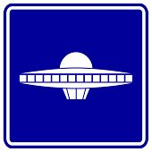 alien ship sign