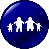overweight family button