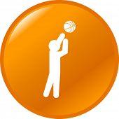 basketball player button
