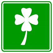 four leaves clover or shamrock sign
