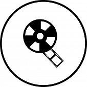 símbolo de carrete de película
