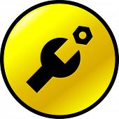 mechanical service or technical support button